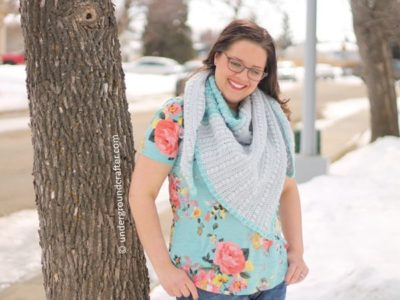 crochet Vintage Lines Shawl free pattern