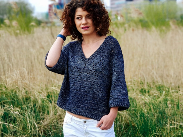 crochet Waw Precious Sweater free pattern