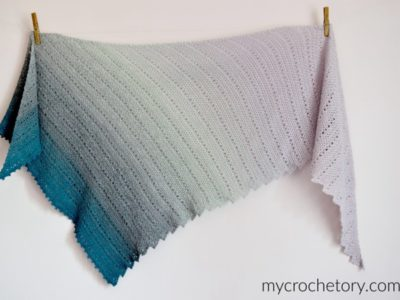 crochet Willow Shawl free pattern