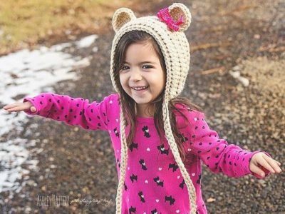 crochet Woodland Fox Bonnet Hat easy pattern