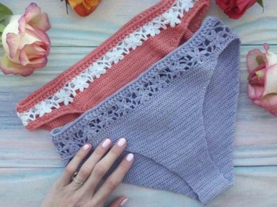 CROCHET Classic Bikini with Flowers easy pattern
