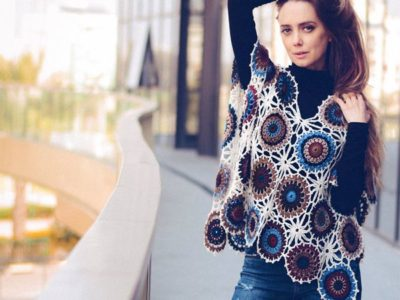 CROCHET OOAK Flower Poncho EASY PATTERN