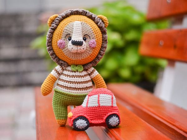 CROCHET lion car easy pattern