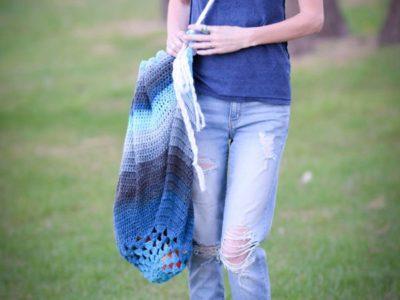 crochet Blanket Bag easy pattern