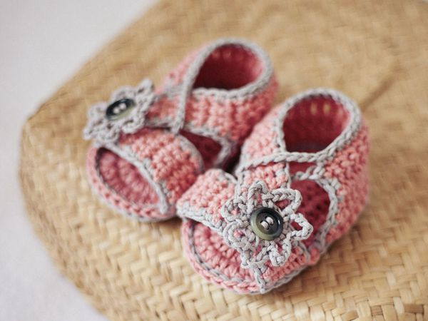 crochet Diagonal Strap Sandals easy pattern