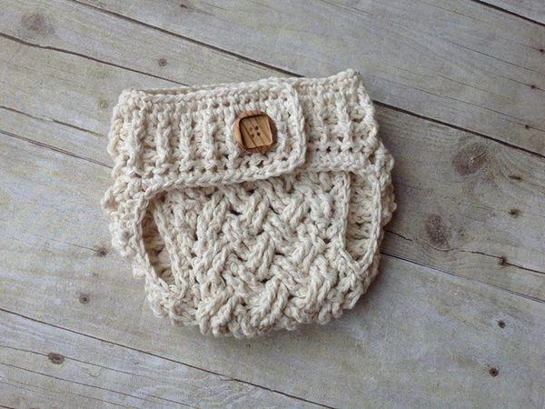 crochet Diagonal Weave Baby Diaper Cover easy pattern