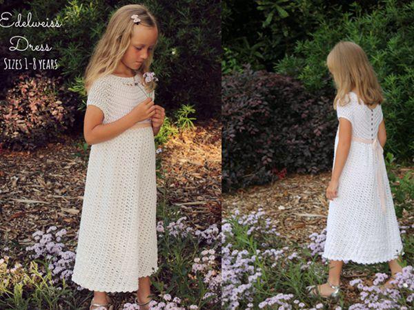 crochet Edelweiss Dress easy pattern
