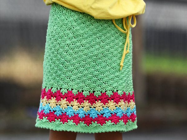 crochet Floreala Skirt easy pattern