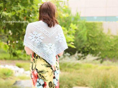 crochet Frontier Shawl free pattern