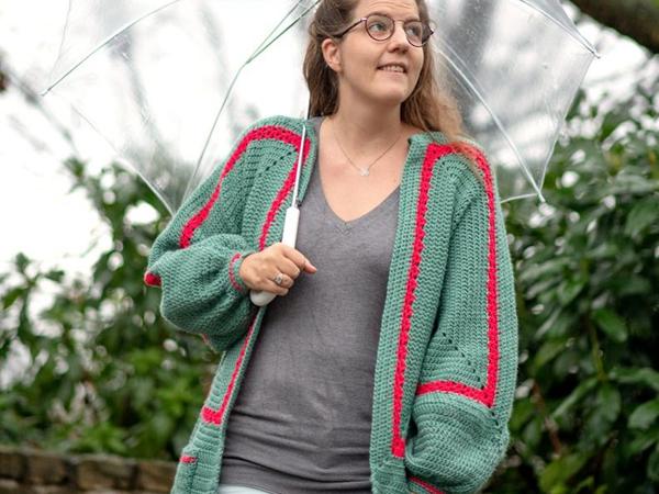 crochet Mathildas Cardigan easy pattern