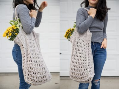 crochet Mesh Bag free pattern