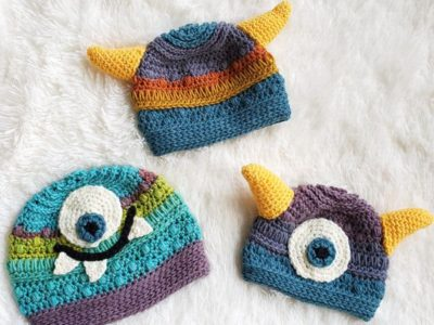 crochet Monster Baby Beanie free pattern