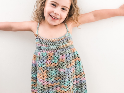 crochet Over the Rainbow Cotton Dress free pattern