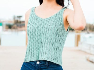 crochet RIBBED TANK TOP free pattern