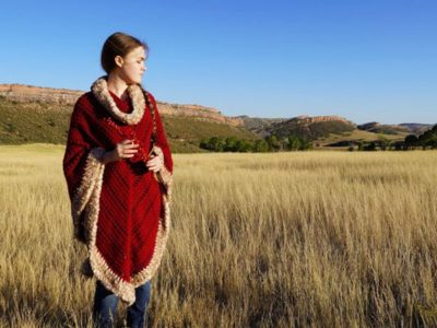 crochet Spiced Cranberry Poncho Easy Pattern