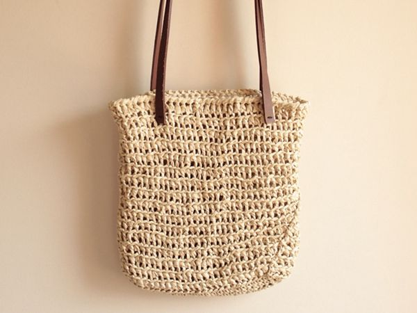 crochet Summer Raffia Bag free pattern