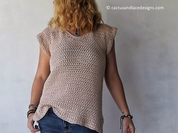 crochet The Wren Tee free pattern