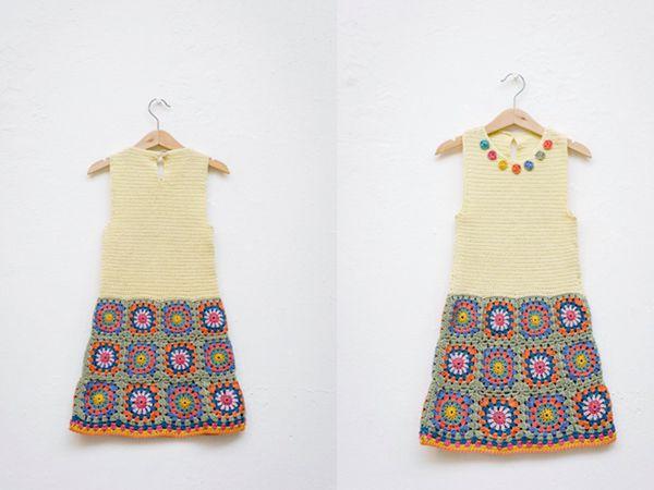 crochet Wilderness Girls Dress easy pattern