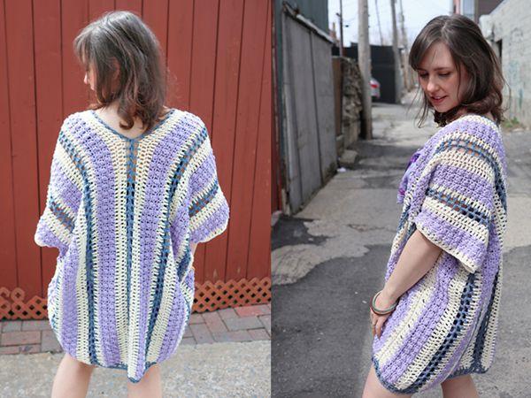 crochet Wisteria Drops Kimono free pattern