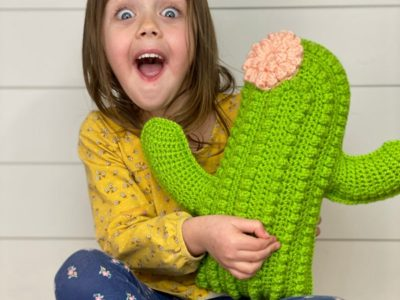 Crochet Cactus Pillow easy pattern