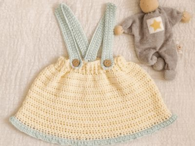 Crochet Skirt with Suspenders free pattern
