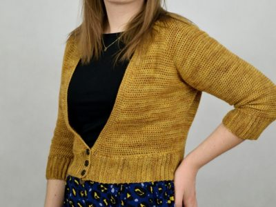 Rhea V-neck Crochet Cardigan