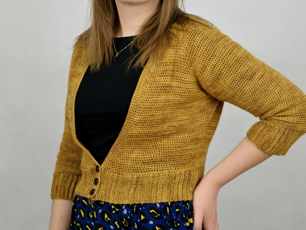 Rhea V-neck Crochet Cardigan