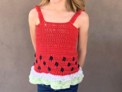 Watermelon Crochet Tank Top free pattern