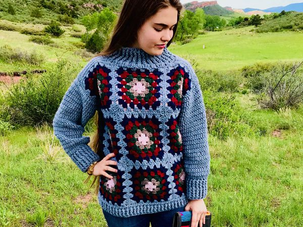 crochet Autumn Rainfall Sweater easy pattern