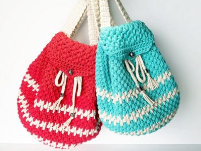 crochet Bohemian Backpack free pattern