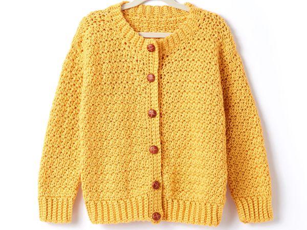 crochet CREW NECK CARDIGAN free pattern