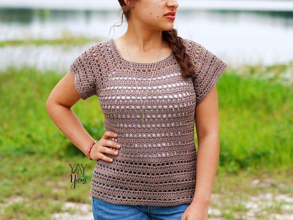 crochet Driftwood Tee free pattern