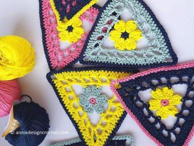 crochet Flower Bunting free pattern