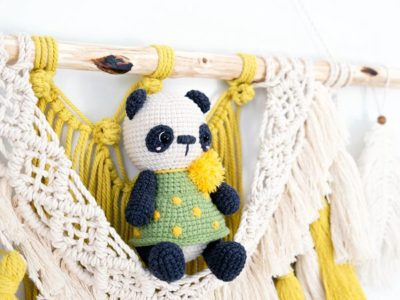 crochet Little panda free pattern