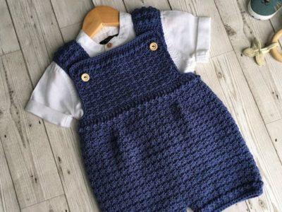 crochet Lovely Newborn Baby Romper easy pattern