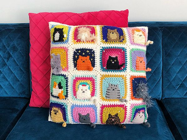crochet Many Cats Square easy pattern