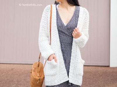 crochet SUMMER COTTON POCKET CARDIGAN free pattern