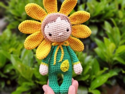 CROCHET Sunny the Flower Girl EASY pattern