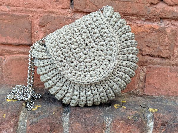 Crochet Round Bag easy pattern