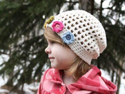 Crochet Summers Flower Girl Hat easy pattern