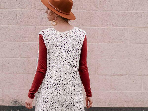 crochet Bohemian Crochet Vest free pattern