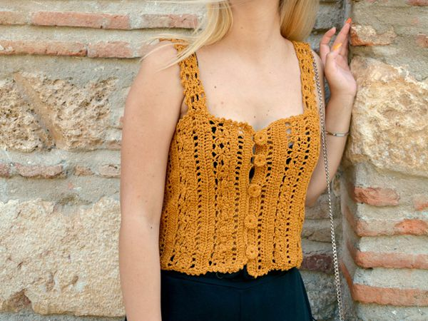 crochet Brigitte Top easy pattern