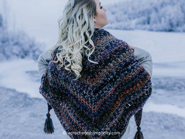 crochet Dahlia Shawl free pattern