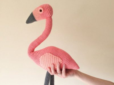 crochet Flamingo amigurumi easy pattern