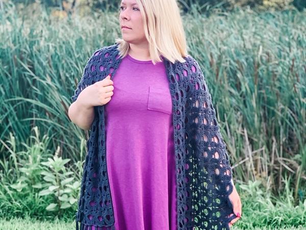 crochet Frankie Wrap free pattern