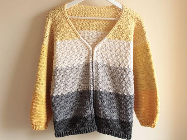 crochet Gap Year Cardigan free pattern