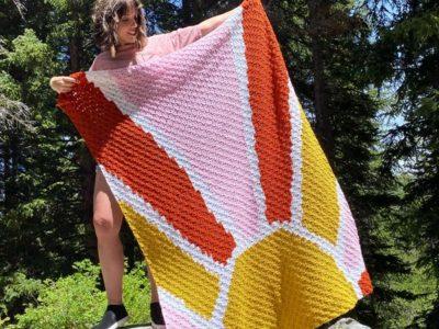 crochet Hello Sunshine Afghan free pattern