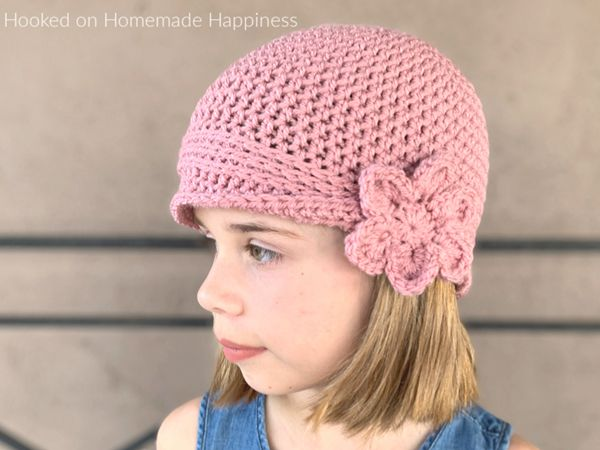 crochet Kids Vintage Hat free pattern