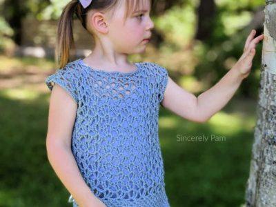 crochet Marielle Lace Tee free pattern