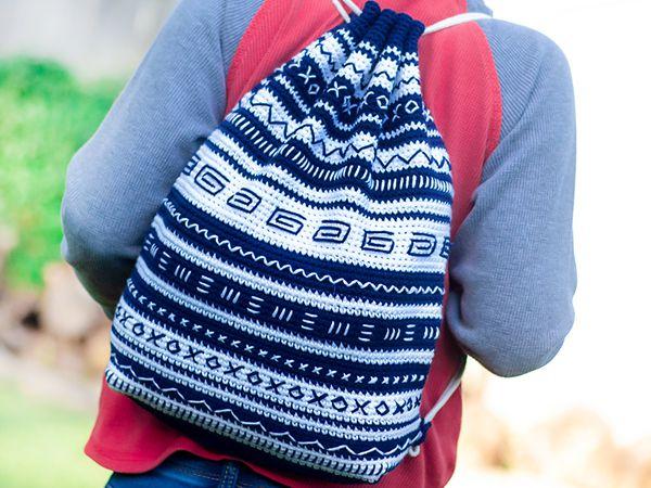 crochet Mudcloth Bag free pattern
